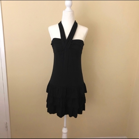 Express Dresses & Skirts - Black halter dress with bubble skirt